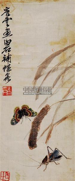 草虫 立轴 纸本 - 116087 - 中国书画 - 2011当代艺术品拍卖会 -收藏网