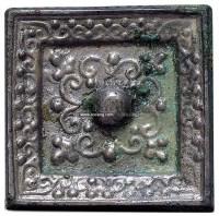 花卉纹方手镜 -  - 妙极神工 铜镜专场 - 2011秋季艺术品拍卖会 -中国收藏网