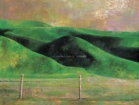 草原风景 布面 油画 - 19520 - 油画、雕塑、版画暨广东油画、水彩 - 2006冬季拍卖会 -收藏网