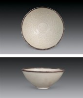 宋 定窑 白釉印花镶口小碗 -  - 瓷器 - 2006年金秋珍品拍卖会 -中国收藏网