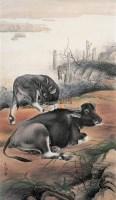 闲憩 镜心 设色纸本 - 141126 - 中国书画 - 2006广州冬季拍卖会 -收藏网
