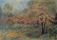 郊外密林 布面  油画 - 颜文樑 - 现代中国艺术 - 2006秋季拍卖会 -中国收藏网