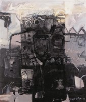 杨劲松 2003年作 记忆一号 布面 综合材料 - 20266 - 中国当代油画 - 2006首届中国国际艺术品投资与收藏博览会暨专场拍卖会 -收藏网
