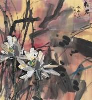 朝荷 立轴 设色纸本 - 116723 - 中国当代水墨 - 2006秋季拍卖会 -收藏网