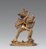 清 铜鎏金胜乐金刚像 -  - 妙音天籁-佛教艺术品 - 2006年秋(十周年)拍卖会 -收藏网