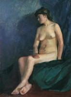 人体 布上 油彩 - 尹戎生 - 西洋美术-中国当代油画、雕塑 - 2006春季大型艺术品拍卖会 -收藏网