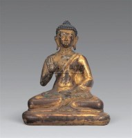 清 铜鎏金释迦牟尼佛像 -  - 妙音天籁-佛教艺术品 - 2006年秋(十周年)拍卖会 -收藏网