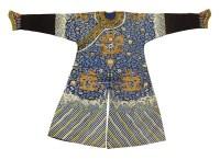 Unknown 蓝地刺繍龙纹吉服 -  - 装饰美术 - 2011秋季伊斯特香港拍卖会 -收藏网
