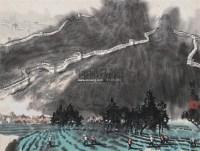 长城风光 立轴 设色纸本 - 徐 希 - 中国书画(二) - 2009春季大型艺术品拍卖会 -收藏网