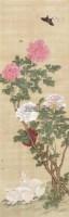 牡丹双兔 立轴 绢本 - 139910 - 中国古代书画、书法专场 - 2011首届春季拍卖会 -收藏网