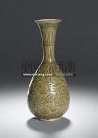 A RARE CARVED'YAOZHOU'CELADON WINE BOTTLE -  - 中国瓷器工艺品 - 2011春季拍卖会 -中国收藏网