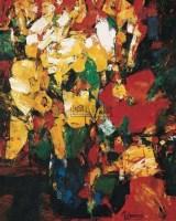 瓶花 布上 油彩 - 金纪发 - 西洋美术-中国当代油画、雕塑 - 2006春季大型艺术品拍卖会 -收藏网