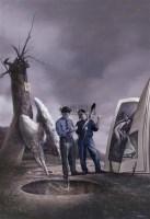 戏水天使的不告而别 布面 油画 - 郭维国 - 油画雕塑 - 2008秋季拍卖会 -中国收藏网