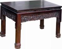 红木灵芝鳄鱼腿画桌 -  - 明清家具文房小件专场 - 首届明清家具文房小件拍卖会 -收藏网