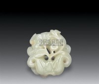 白玉双菱角坠 -  - 瓷器 玉器 工艺品 - 2008年夏季拍卖会 -收藏网