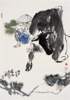牧牛图 镜心 设色纸本 - 116646 - 中国书画 - 2008春季艺术品拍卖会 -收藏网