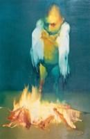 吴建军 2006年作 非人类·火No.5 布面 油画 - 吴建军 - 中国当代油画 - 2006首届中国国际艺术品投资与收藏博览会暨专场拍卖会 -收藏网