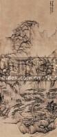 仿古山水 立轴 水墨纸本 - 116546 - 中国书画 - 2008秋季艺术品拍卖会 -收藏网