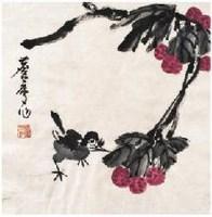 喜逢吉利 镜心 设色纸本 - 17529 - 古代 近现代书画 - 2007年首届中国艺术品拍卖会 -中国收藏网