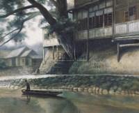 何大桥 温州小景 布面油画 - 140641 - 中国油画 - 2006秋季艺术品拍卖会 -收藏网