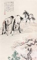 马 立轴 纸本 - 徐悲鸿 - 文物商店友情提供 - 庆二周年秋季拍卖会 -收藏网