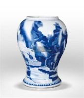 青花山水人物纹罐 -  - 中国古代瓷珍暨雕塑残器专场 - 犹珍8-中国古代瓷珍暨雕塑残器专场 -中国收藏网