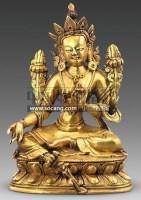 铜鎏金绿度母 -  - 古董珍玩 - 2011春季艺术品拍卖会 -收藏网