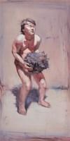 活着 布面油画 - 尹朝阳 - 中国当代艺术 - 大海航行—中国当代艺术秋季拍卖会 -收藏网