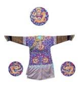 织锦五爪九龙龙袍 -  - 古董文玩 - 2011春季艺术品拍卖会(一) -收藏网