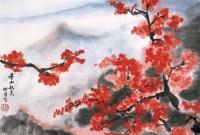 娄师白 香山秋色 镜心 设色纸本 - 娄师白 - 中国书画(一) - 2006畅月(55期)拍卖会 -中国收藏网