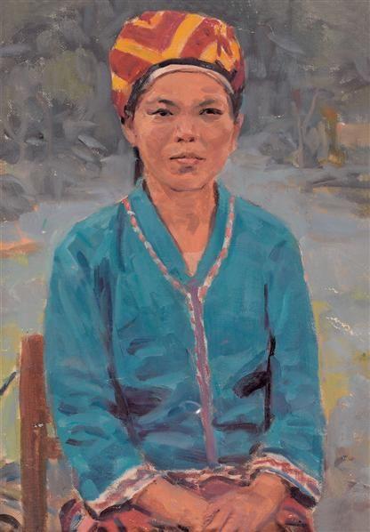 黎冰鸿 黎族女社员 油画 - 127131 - 油画专场 - 2006首届艺术品拍卖会 -收藏网