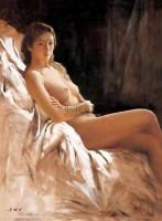 日光 布面 油画 -  - 油画、雕塑、版画暨广东油画、水彩 - 2006冬季拍卖会 -收藏网