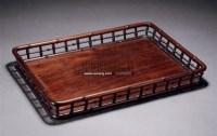 红木竹节托盘 -  - 古董珍玩 - 2011金秋艺术品拍卖会 -收藏网