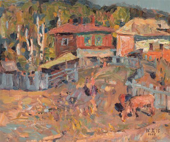 张华清 风景 油画 - 132406 - 油画专场 - 2006首届艺术品拍卖会 -收藏网