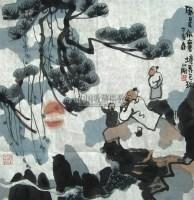 胡正伟  西域驯驼图 立轴 - 胡正伟 - 中国书画 - 第二届中国书画拍卖会 -收藏网
