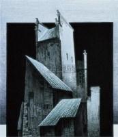 西递村系列之二十三 水印 版画 - 应天齐 - 中国油画与版画专场 - 2007夏季艺术品拍卖会 -收藏网