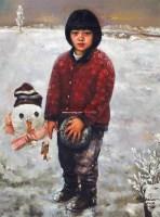 雪天的记忆 布面油画 -  - 油画之光—油画专场 - 北京康泰首届艺术品拍卖会 -收藏网