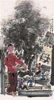 张立柱(b.1956)纺织故乡留梦中 - 张立柱 - 中国书画 - 2006年秋季艺术品大型拍卖会 -收藏网