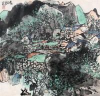 山水 镜心 设色纸本 - 119279 - 中国书画 - 第117期月末拍卖会 -收藏网