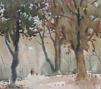 张充仁 树林 布面 油画 - 张充仁 - 中国油画 - 2006年秋季拍卖会 -收藏网