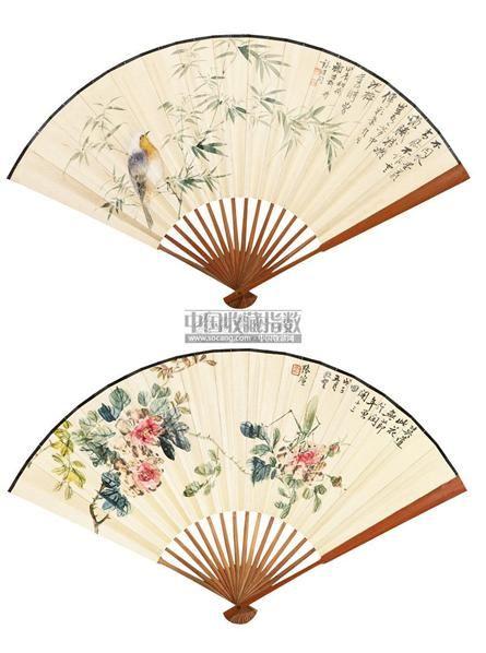 张煊 花鸟 成扇 设色纸本 - 139818 - 中国书画(一) - 2011春季拍卖会 -收藏网