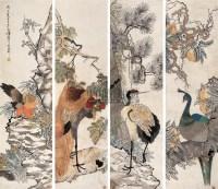 任薰 戊子(1888年)作 花鸟 四屏 - 任薰 - 中国书画(二) - 2007年嘉德四季第十一期拍卖会 -收藏网