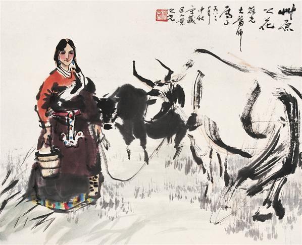 草原之花 镜心 设色纸本 - 1356 - 中国当代水墨 - 2006秋季拍卖会 -收藏网