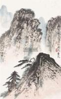 山水 立轴 设色纸本 - 弭菊田 - 中国书画(四) - 2011春季艺术品拍卖会 -中国收藏网
