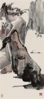 泛舟图 立轴 设色纸本 - 134237 - 中国书画 - 四季精品拍卖会 -收藏网