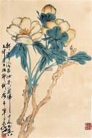 花卉 立轴 设色纸本 - 128053 - 中国书画(一) - 2011秋季拍卖会 -收藏网