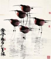 水鸟 立轴 - 128065 - 中国书画 - 2008春季拍卖会 -收藏网