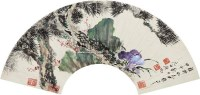 多寿图 镜片 设色纸本 - 启功 - 中国书画一 - 2011春季艺术品拍卖会 -收藏网
