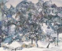 雪景 布面 油画 - 洪凌 - 中国油画 - 2006秋季大型艺术品拍卖会 -中国收藏网