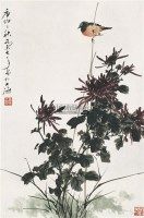 花鸟 框 设色纸本 - 乔木 - 中国书画 - 2009夏季拍卖会 -收藏网